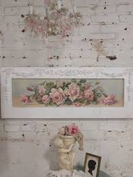 Shabby Chic Paintings by Painted Cottage Chic Shabby Romantic Rose Canvas Print Hd60
