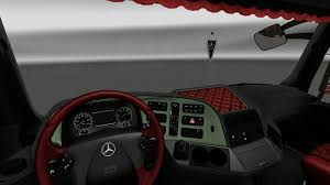 mercedes dashboard mercedes benz actros mp3 interior exterior rework v1 1 mod euro