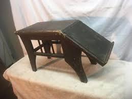 shoe store bench seat vintage padded shoe store foot stool shoe shine bench seat lot 2