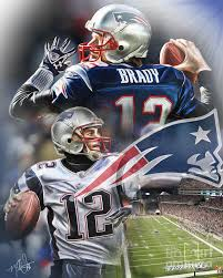 new england patriots painting by mike oulton