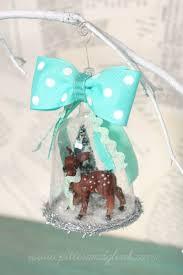 pitterandglink handmade deer snow globe ornament