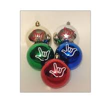 ily sign language ornaments pack of 5 sign