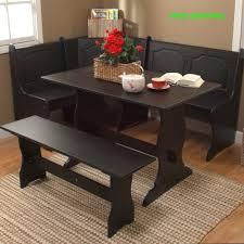 black corner dining set breakfast nook bench table kitchen dinette