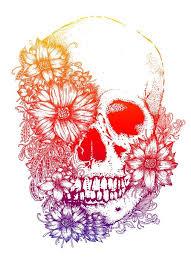 rainbow flowers skull design best designs