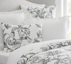 Pure Cotton Duvet Covers Pippa Floral Print Organic Duvet Cover U0026 Sham Pottery Barn