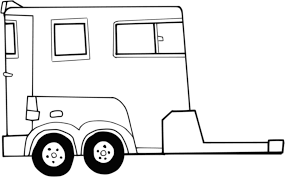 coloring pages horse trailer horse trailer clipart clipartxtras