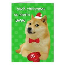 Doge Meme Christmas - doge christmas card zazzle com