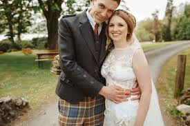 scottish wedding dresses and s rustic travel themed scottish wedding with a