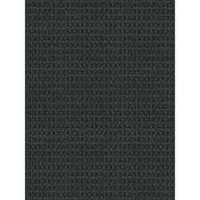Home Depot Rugs Sale Foss Checkmate Charcoal Black 6 Ft X 8 Ft Indoor Outdoor Area