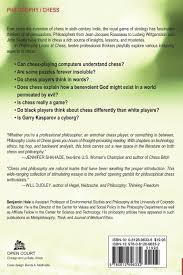 philosophy looks at chess benjamin hale 9780812696332 amazon