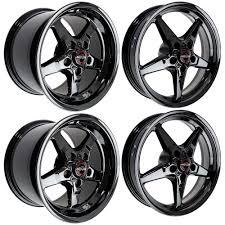 Black Chrome Wheels Mustang Race Star Industries Mustang Wheel 17x4 5 15x10 Set 2005 2014