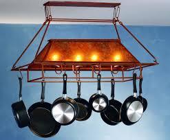 over island pot rack with lights 15 kitchens perfect pot racks