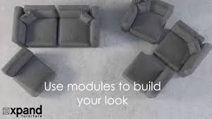 modern soft cube modular sofa set youtube