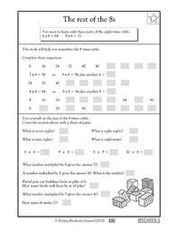 3rd grade 4th grade math worksheets multiples of 8 2 greatschools