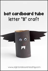 letter b craft bat cardboard tube mrs karles sight and sound