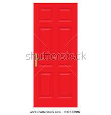 vector illustration realistic closed red front stock vector