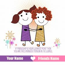 write name on friendship special greetings
