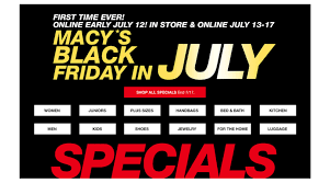 macy s black friday sale macy u0027s black friday in july sale ends 7 17 u2013 miss penny saver