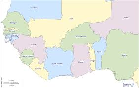 Ghana Africa Map by Western Africa Free Map Free Blank Map Free Outline Map Free