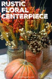 Fall Floral Decorations - rustic floral centerpiece for fall catch my party