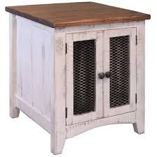 Pueblo White End Table IFDENDW Artisan Home By IFD AFW - Artisan home furniture