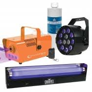 Eliminator Lighting Eliminator Mini Rgbw Led With Orange Fog Machine U0026 Uv Bar Idjnow