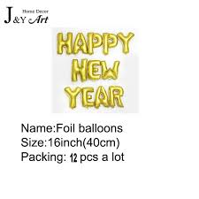 Decoration With Balloons For New Year by Aliexpress Com Buy 16 Inch Happy New Year Foil Balloons With