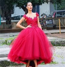 tea length wedding dresses discount tea length wedding dresses 2017 v neck tulle bridal dress