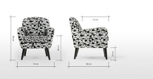 Black Accent Chair Johan Accent Chair Graphic Print Black And Grey Made