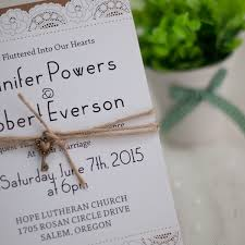 layered wedding invitations country graceful laser cut layered wedding invites with vintage