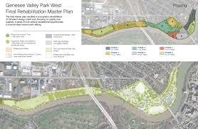 Park West Landscape by Genesee Valley Park West Master Plan U2014 Bayer Landscape
