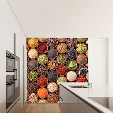 home spice decor colourful spices wall mural food photo wallpaper kitchen