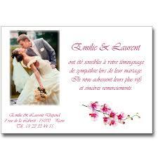 modele remerciement mariage remerciement mariage orchidée lutin faire part