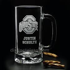 etched glass vase personalized beer gifts for men etched glass sports beer mugs football
