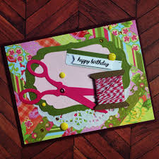 Personalized Scrapbook Seamstress Birthday Card Personalized Card Modern Scrapbook