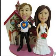 family and pets custom bobble head cake toppers bobble