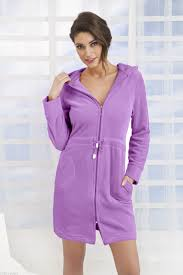 new womens cotton dress style bath robe housecoat dressing gown