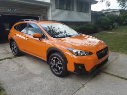 subaru orange crosstrek picked her up yesterday 2018 sunshine orange premium xvcrosstrek