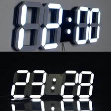 led wall clock with date