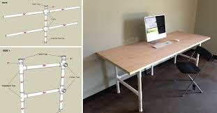 Pipe Desk Diy How To Make Pvc Pipes Table Diy Crafts Handimania