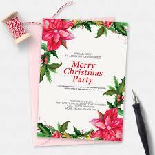 merry christmas party flyer invitation templates creative market