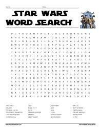 printable word search star wars word search free printable allfreeprintable com