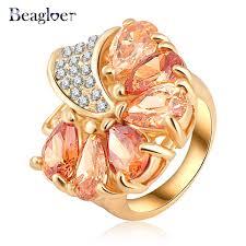 aliexpress buy beagloer new arrival ring gold beagloer new hot sale women gold plating loved flower engagement