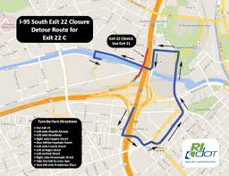 I 95 Exits Map Traffic Cameras Metropolitan Providence Rhode Island Rhode