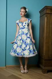 50s regina doll hawai blue swing dress