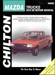 mazda b1600 b1800 b2000 b2000 b2200 repair manual 1972 1986