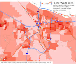 Map Of Downtown Portland by Portland Polarization Maps Oregon Office Of Economic Analysis