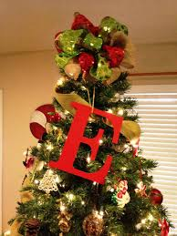 monogram tree topper personalized christmas tree toppers