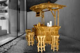 round bar table and stools tiki bar table indigrass