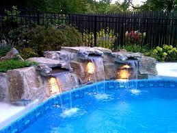 kitchen amazing aquarock swimming pool waterfalls custom luxury